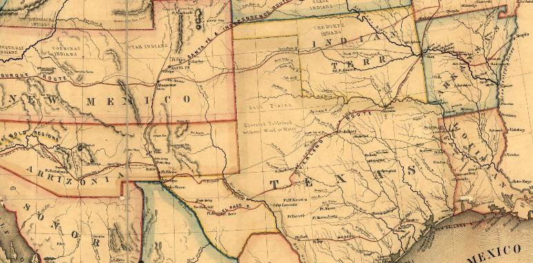 Portion of a map of the United States from 1859. (World Digital Library).